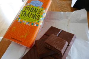 シアトルチョコレート、メニーサンクス、気持ちを伝えるチョコ