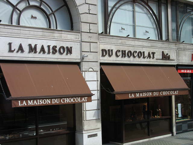 銀座を散策、ヨーロッパ、有名なチョコレート店