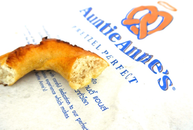 アメリカ発祥、世界ナンバーワン、プレッツェルチェーン、アンティアンズ、バターの風味、もちもち食感