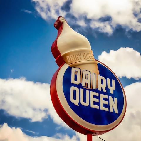 アメリカ発祥、デイリークイーンリミテッド、丸いソフトクリーム、フラペチーノ