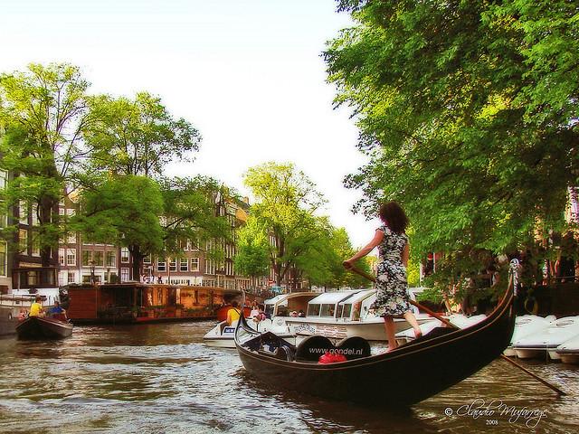 運河が世界遺産、オランダ、アムステルダム、街全体がアート、旅行