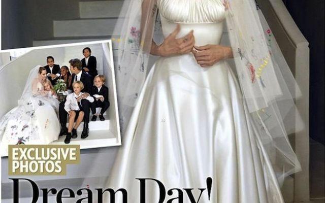 アンジェリーナジョリー、ブラッドピット、幸せな家族、結婚式