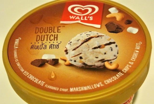 タイ、ウォールズ、ダブルダッチ、アイスクリーム、美味しくない