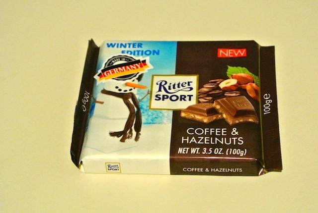 ドイツ、リッタースポーツ、コーヒーヘーゼルナッツチョコレート、冬季限定
