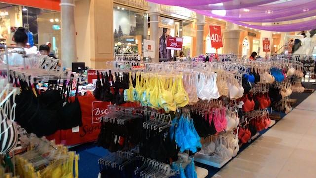 ターミナル21、ランジェリー・ブランド・セール、世界のトップブランドの下着、80%オフ