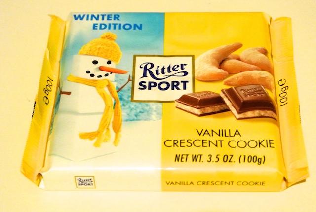 リッタースポーツ、冬限定商品、バニラクレセントクッキー、エスプレッソと相性抜群