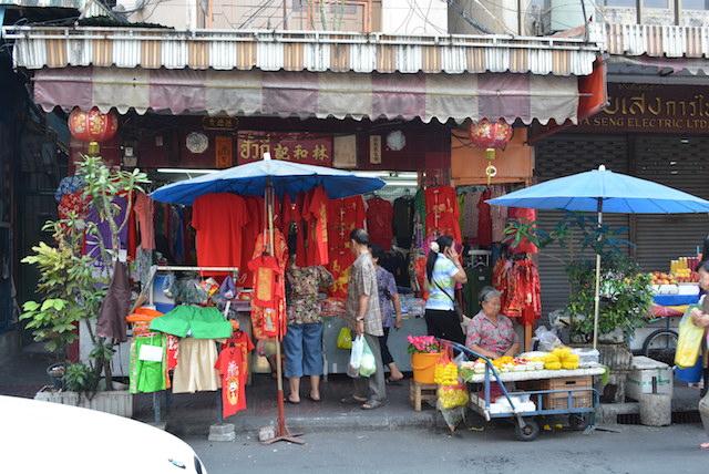 旧正月、バンコクのヤワラート、活気、グルメ、中国の文化