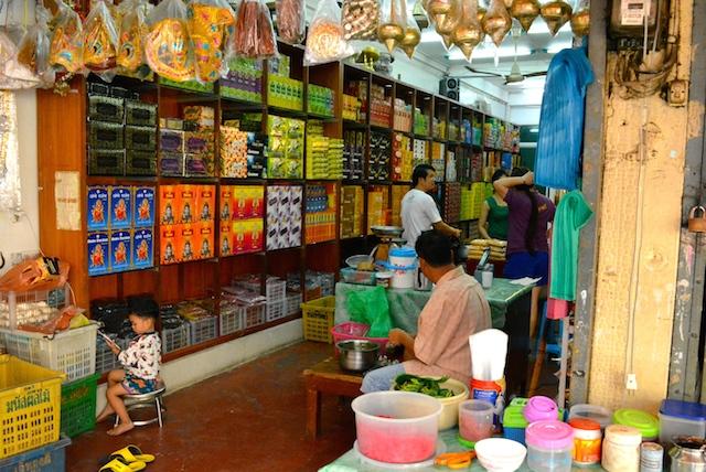 タイのリトルインディア、ヒンドゥー教徒の町、パフラット市場