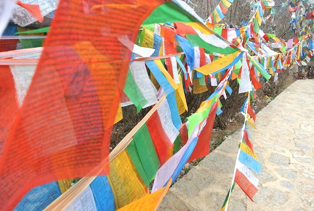 空が近い、タルチョがはためく、雲南省の理想郷、シャングリラ、バスで移動