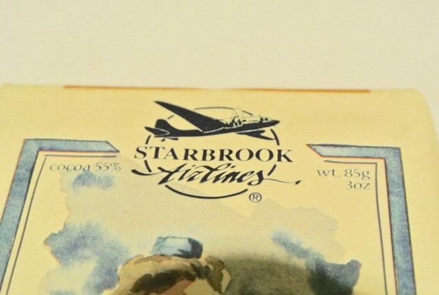 オールドスタイルの飛行機、CAがモチーフ、ベルギーチョコレート、スターブローク・エア・タイムズ