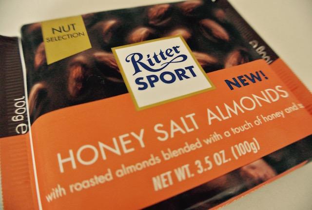 ドイツ、リッタースポーツ、新しいアソート、ハニーソルト アーモンドチョコレート