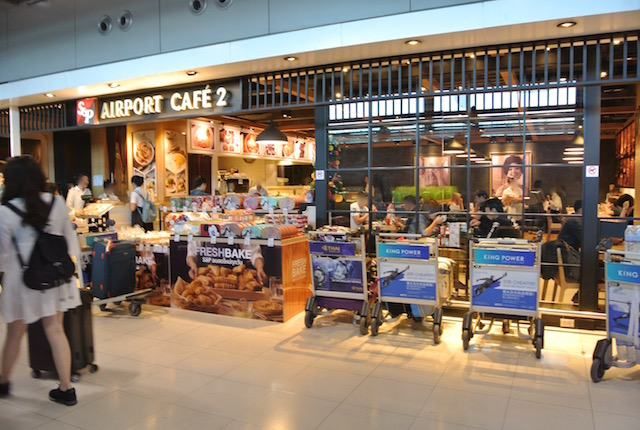 2017年、最新版、タイ、国際線ターミナル、スワンナプーム空港、飲食店