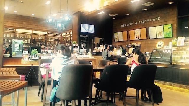 待ち合わせ、時間つぶす、ヴェラス コネクト ビスタ カフェ、チョンノンシー