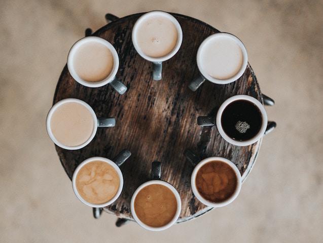 タイ産、コーヒー、小さなベンチャー、サポート