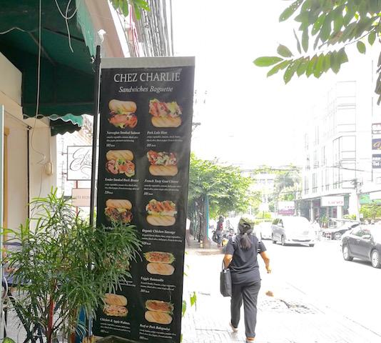全部美味しい、アソーク駅近く、シェ チャーリー クレープ&ビストロ