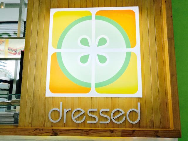 アスレジャー、通う、バンコク、サラダ専門店、ドレスド