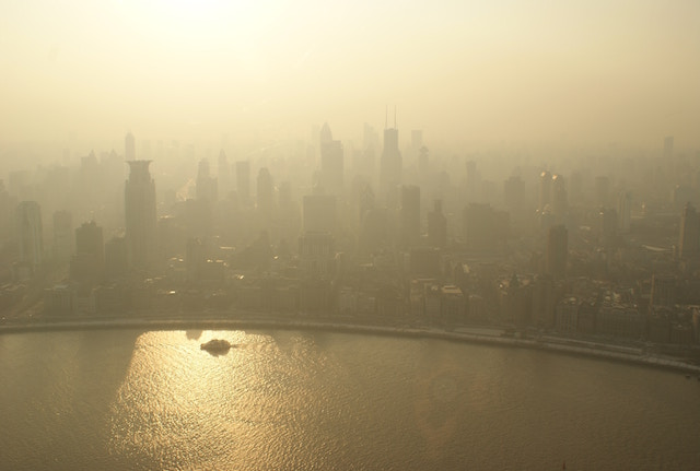 バンコクの空、黄色、深刻化、大気汚染、PM2.5