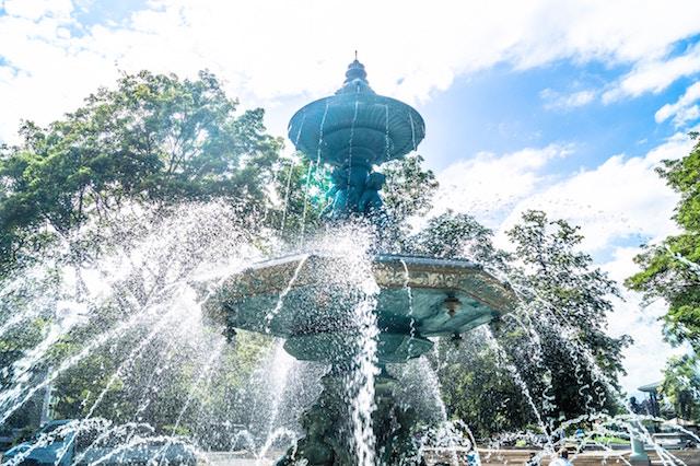 暑い日、品川区、水遊び場、行く